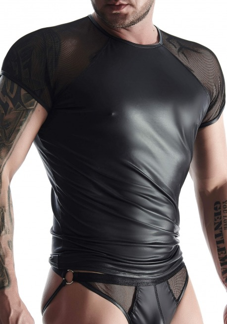 Wetlook & Mesh T-Shirt