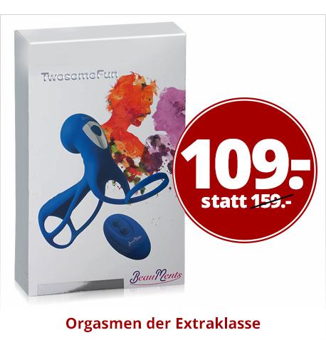 Vibrator mit Penis- & Hodenring
